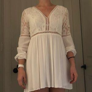 Beautiful white mini dress
